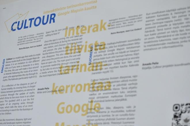 Amado Peña's literature-based mobile app - Cultour [Photo and Design by Daniel Malpica]
