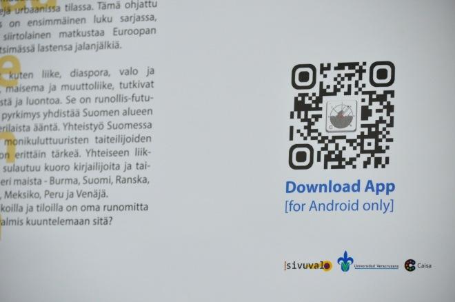 Amado Peña's literature-based mobile app - Cultour [Photo by Daniel Malpica]