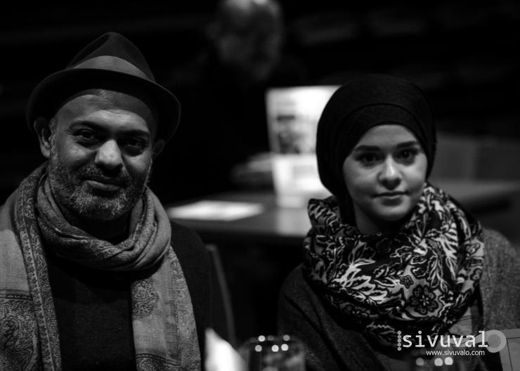 Iraqi writers Hassan Blassim and Aya Chalabee [Photo by: Jaime Culebro]