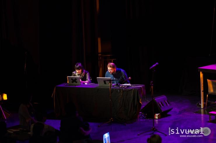 Mexican poet and designer Daniel Malpica and Spanish sound artist Josué Moreno [Photo by: Jaime Culebro]