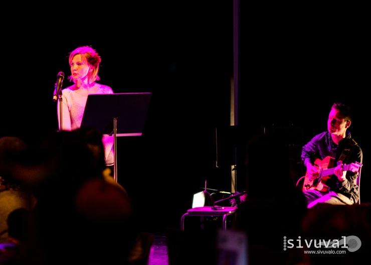 Finnis author Outi Korhonen and German guitar player Moritz Cartheuser [Photo by: Jaime Culebro]